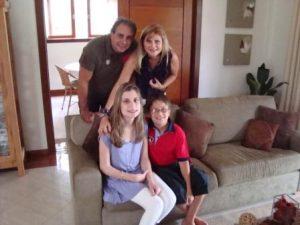 Eduardo, Leda, Nathalia e Guilherme
