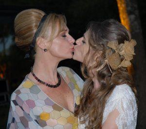 Théa com a filha Alessandra