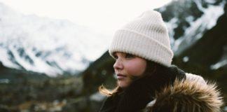 Mulher no frio
